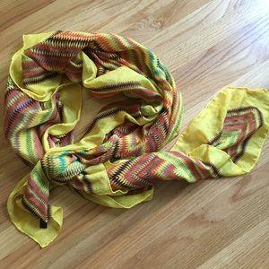 Bold geometric vintage scarf/wrap